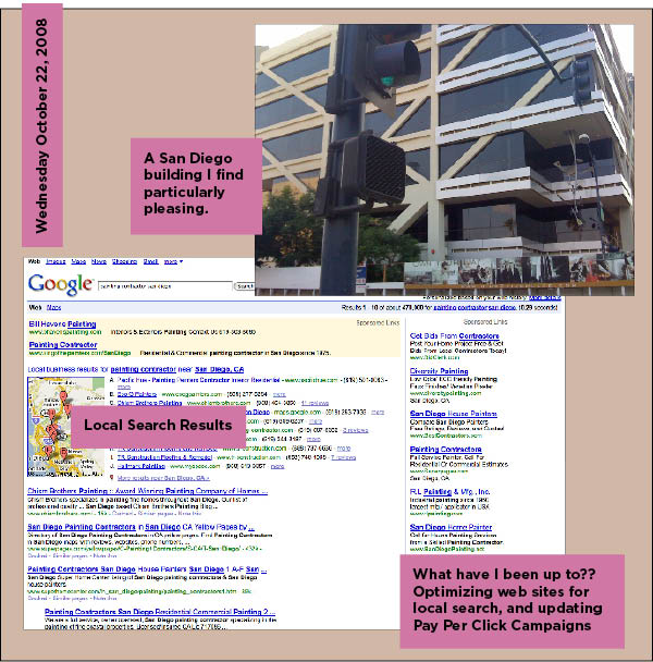 San Diego Building, and Google local search